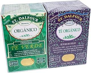 Té Verde Organíco y Té orgánico Ceilán St. Dalfour 2pack