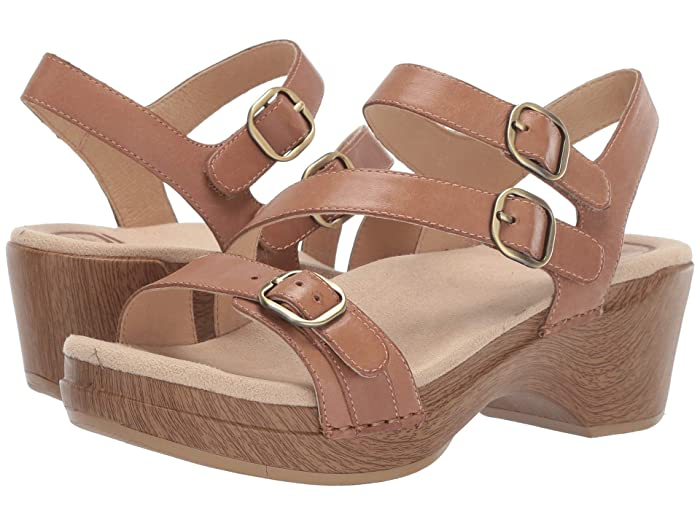 Dansko  Sacha (Tan Burnished Calf) Womens Dress Sandals
