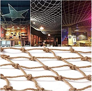 Anti-fall Net,Decor Net Hemp Rope Decoration Net Climbing Net Ceiling Outdoor Party Decoration Wall Net, 10cm Mesh (Color ...
