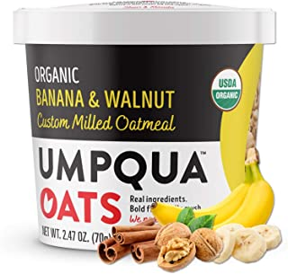 Umpqua Oats | Organic Oatmeal | All Natural, Premium Oat Cups | No Mush, Custom Milled | Non-GMO (8 count) (Organic Banana...