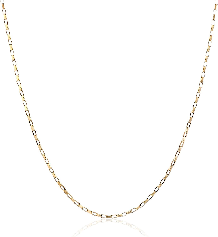 Kooljewelry 14k Yellow, White or Rose Gold 0.7 mm Long Box Chain (16, 18, 20, 22, 24, or 30 inch)