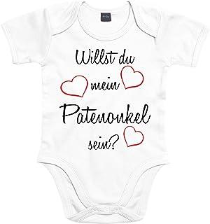 Mister Merchandise Mister Merchandise Baby Body Willst du mein Patenonkel sein Strampler liebevoll bedruckt Pate Patenschaft Taufe Weiß, 0-3