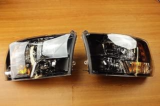 Dodge Ram 1500 2500 3500 Set Of Black Bezel Halogen Headlights OEM