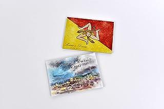 Bomboniera per matrimonio sicilia calamita personalizzata con immagini della sicilia 10 pezzi