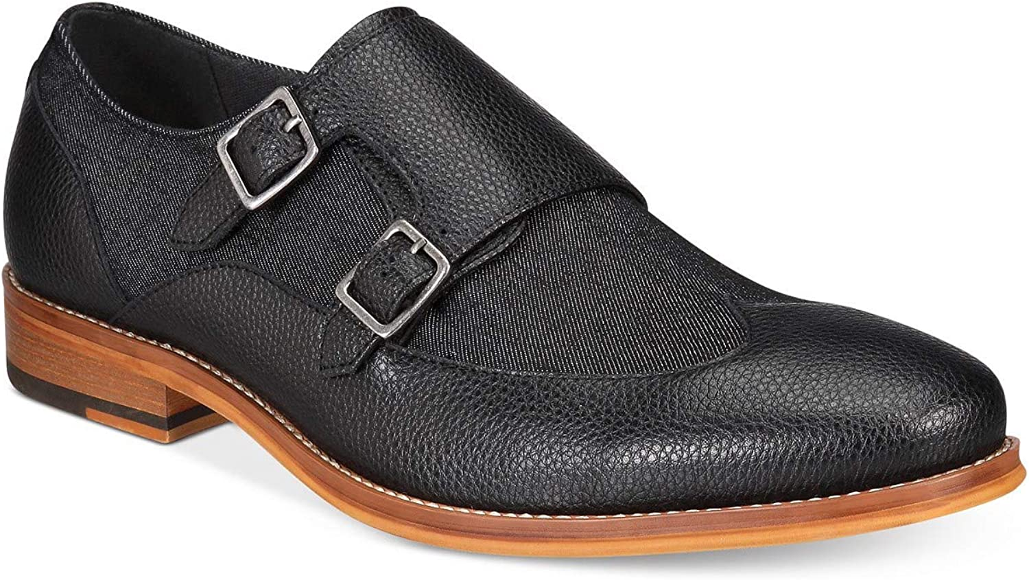 Bar III Mens Rebel Leather Buckle Casual Oxfords