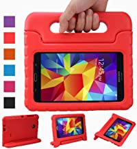 NEWSTYLE Shockproof Light Weight Kids Case with Protection Cover Handle and Stand for Samsung Galaxy Tab 4 7-inch, SM-T230, SM-T231, SM-T235 - Red (Not Fit Other Models)