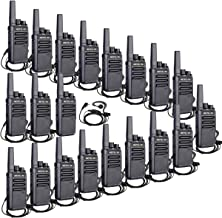 Retevis RT68 Two Way Radios Long Range UHF FRS 16 CH VOX Encryption Security Business Rechargeable Walkie Talkies with Earpieces(20 Pack)