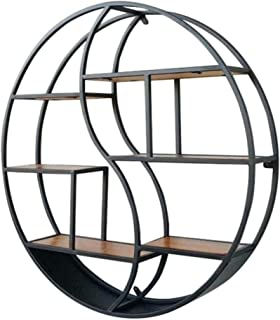 Wall-Mounted Partition Shelf Round Iron Wall Shelf For Living Room Bedroom Used For Bookshelf Storage Christmas