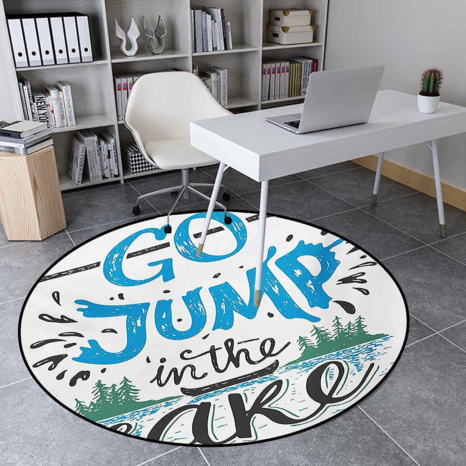 Area Rug Popular product Round 4.6' Indoor Floor for Mail order cheap Mat Living Room Vint
