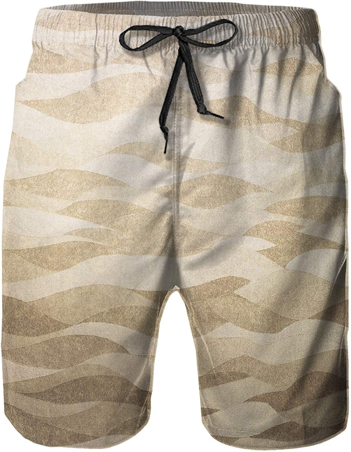 Amextrian Mens Quick Dry Swim Trunks with Mesh Lining, Summer Surf Long Beach Pants Board Shorts Bathing Suits