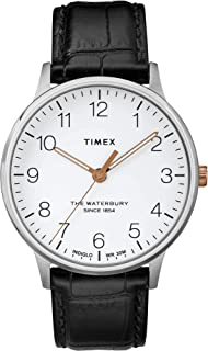 Timex Mens Analogue Classic Quartz Watch with Leather Strap TW2R71300