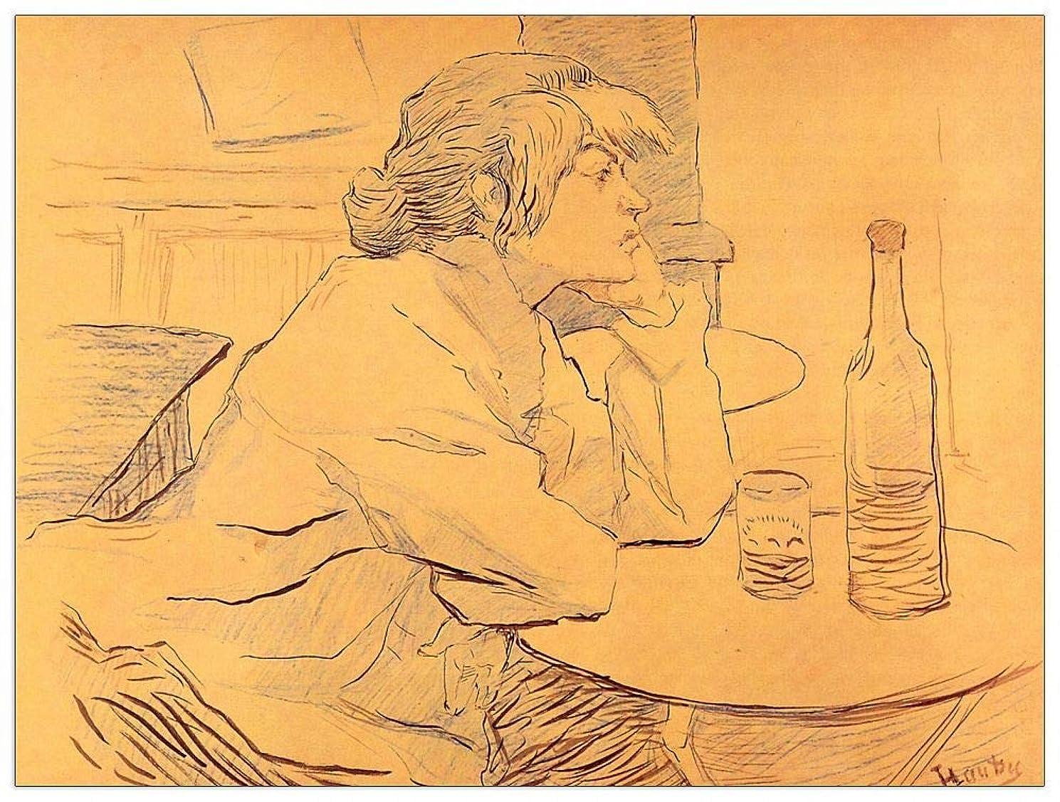 ArtPlaza TW92707 Toulouse-Lautrec-The Hangover Decorative Panel, 35.5x27.5 Inch, Multicolored