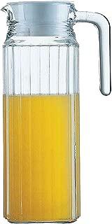Luminarc Quadro Tall Glass Fridge Pitcher With Lid