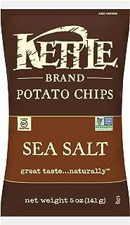 Kettle Brand Potato Chips, Sea Salt, 5 Ounce Bags (Pack of 15)
