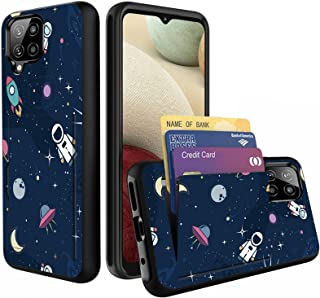 GFEWYTJYJ for Galaxy A12 Case with Card Holder,Shockproof Armor Silicone Hybrid Rugged Protective Wallet Cover Case for Sa...