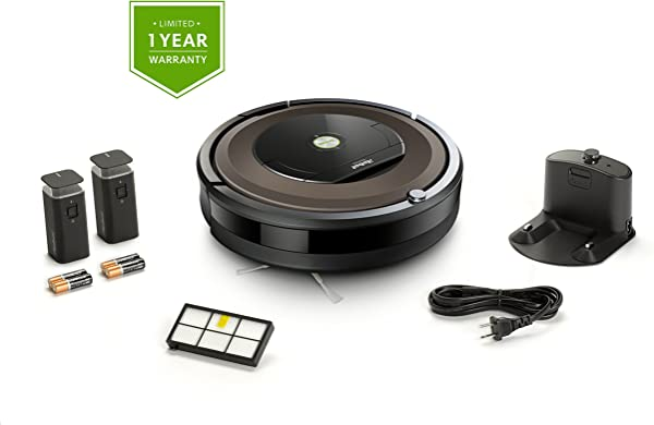IRobot Roomba 890 机器人真空捆绑无线连接理想的宠物毛发 1 额外的虚拟墙