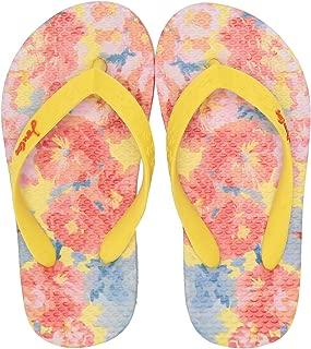 Printed Flip Flops Floral Yellow EVA Junior Flip Flops Sandals