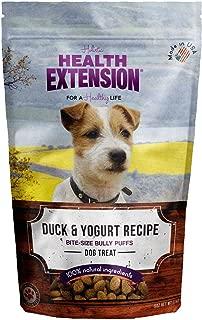 Health Extension Bully Puffs Dog Treat, Duck And Yogurt