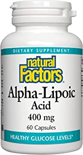 Natural Factors, Alpha-Lipoic Acid 400 mg, Whole Body Antioxidant Support, 60 Capsules