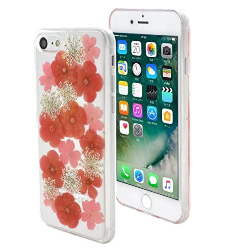 77a0f056dc PLATA iPhone 7 / iPhone 8 ケース 押し花 flower フラワー ソフト ケース カバー iPhone アイフォン 7