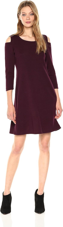 Nine West Womens 3 4 Sleeve Aline Cold Shoulder Dress Dress