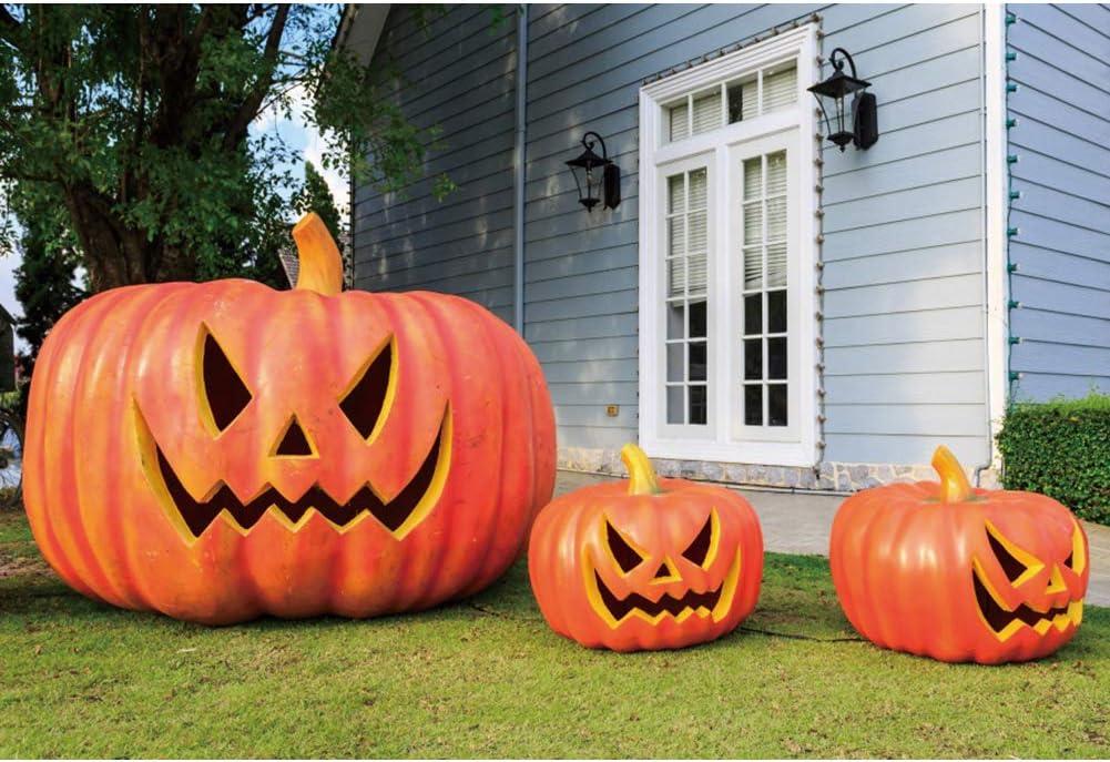 Laeacco 2021 new Halloween Backdrop 8x6.5ft Grimace Pumpkin B Photography San Jose Mall