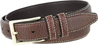 Men's 100% American Bison Leather Dress Belt Made in USA 1 1/8