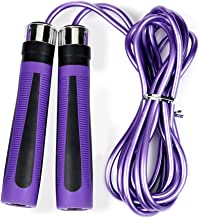 YOKIRIN Best Skipping Jump Rope for Endurance Training and Fat Burning - Handles Speed Cable -More Intense Workout than Exercise Weights More Calories than Exercise Treadmills or Step Machines