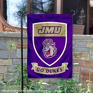 James Madison Dukes Crest Shield Garden Flag and Banner