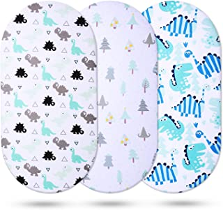 Momcozy Universal Bassinet Sheets 3 Pack, 100% Breathable Cotton Sheet Set for Baby Boy, Fit for Most Bassinet Pad/Mattres...