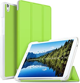 Huawei MediaPad T2 8.0 PRO ケース 【KuGi】 傷つけ防止 スタンドカバー Huawei T2 8.0 PRO カバー 薄型 軽量 三つ折 内蔵マグネット開閉式 PUレザーカバー Huawei 8インチ タブレット MediaPad T2 8 Pro スマートケース グリーン