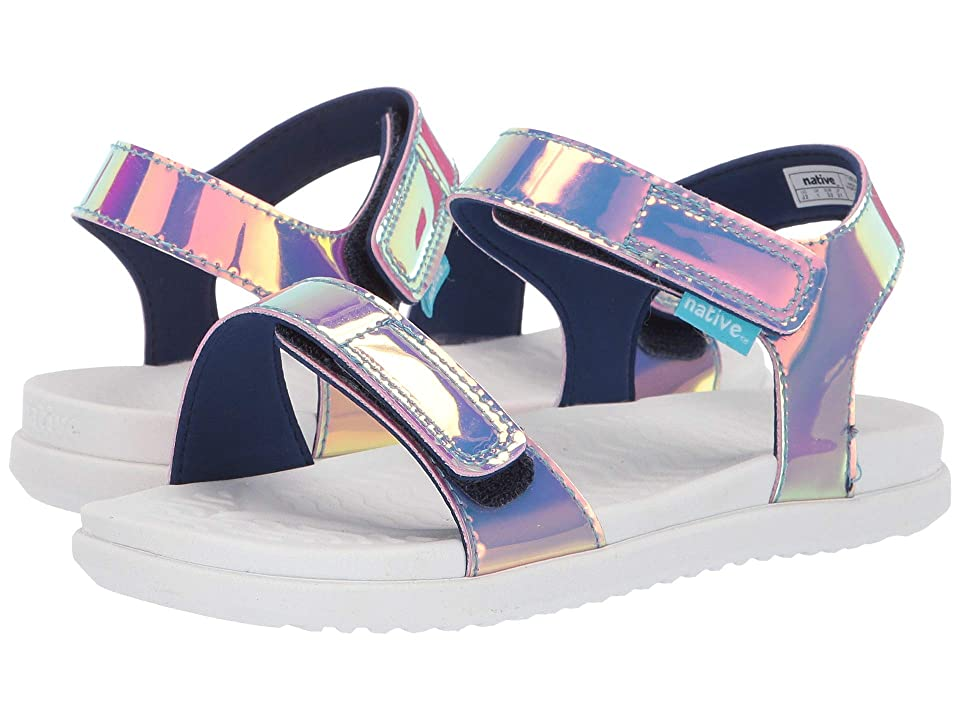 Native Kids Shoes Charley Hologram (Little Kid) (Pink Hologram/Shell White) Girl
