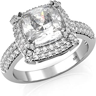 Best 3 ct cushion cut halo engagement rings Reviews