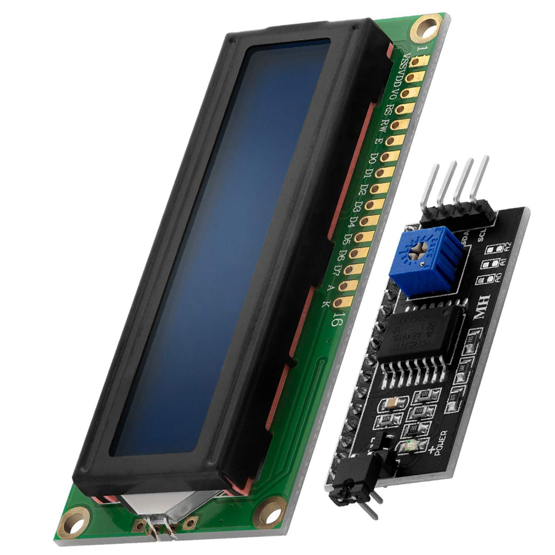 AZDelivery HD44780 16x2 Modulo LCD Display Bundle con Interfaz I2C 2x16 Caracteres compatible con Arduino y Raspberry Pi con E-Book incluido! (con Fondo Azul y Caracteres Blancos)