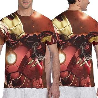 Iron Manアイアンマン9 (5) メンズ 半袖 夏服 Tシャツ おしゃれ 3d プリント はワンマンデザイ Tシャツ日常用 メンズ スタイリッシュな 吸水速乾 シンプル おしゃれ 人気 無地 半袖 通勤 通学 運動 ティーシャツ