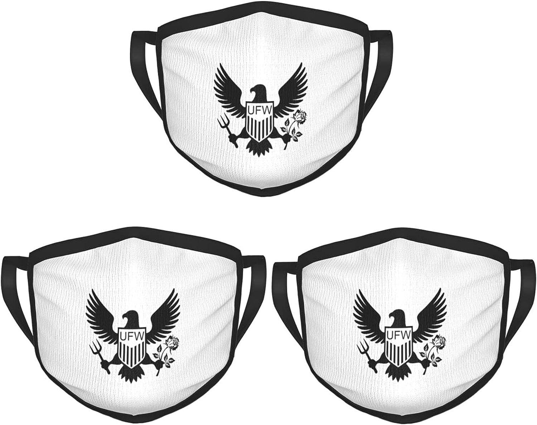 United Farm Workers Face Mask 3PCS Unisex Balaclava Comfortable Washable Reusable Fashion for Men Women