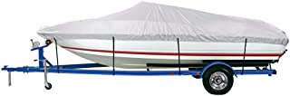 iCOVER Trailerable Boat Cover, Heavy Duty Waterproof UV Resistant Marine Grade Polyester Fits V-Hull,TRI-Hull,Pro-Style,Fi...