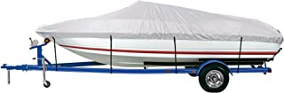 iCOVER Trailerable Boat Cover, Silver Reflective, Water Proof Heavy Duty,  Fits V-Hull, Fish&Ski,  Pro-Style,  Fishing Boat,  Runabout,  Bass Boat Multiple Sizes and Colors,  Silver Color,  B5101
