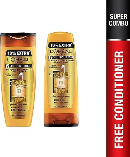 L'Oreal Paris Hex 6 Oil Shampoo, 360ml+L'Oreal Paris Lp Hex 6 Oil Conditioner, 175ml product image