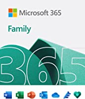 Microsoft 365 Family | Email delivery in 1 hour| 12-Month Subscription, 6 people | Premium Office apps | 1TB OneDrive...