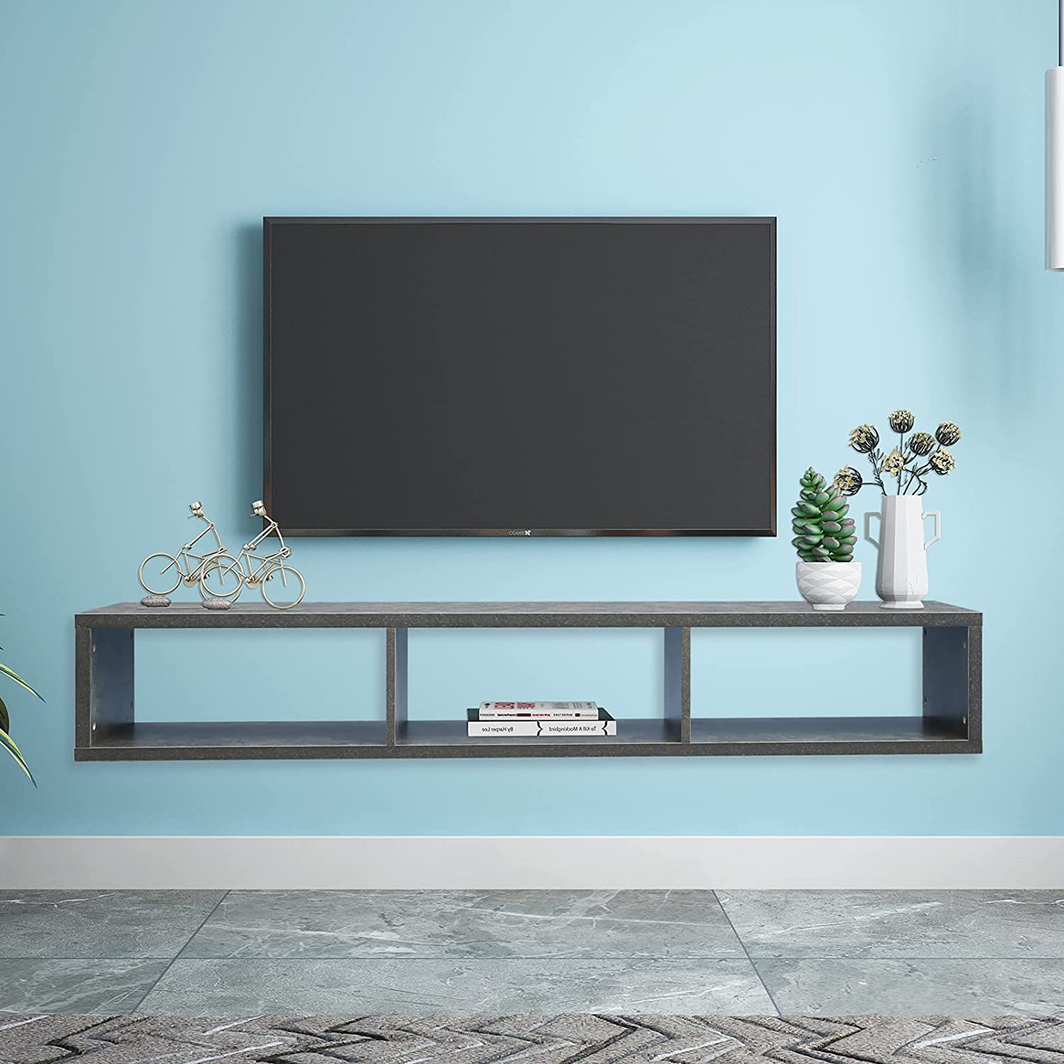 Knocbel Modern Floating TV Shelf Ranking TOP1 Comp Console Wall Dedication Media Mounted