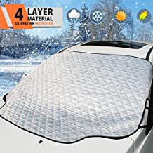 Zedoli Car Windshield Snow Cover,Car Sunshades for Windshield with Magnetic Edges Snow, Ice Defense No Scratches, Cotton Thicker Windshield Winter Cover Fits for Most Cars