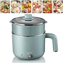 Casserole électrique Mini Avec Cuiseur Vapeur Multifonctions électrique Sauteuse Petit Hot Pot Poêle Frire Pot Soupe 1.2L ...
