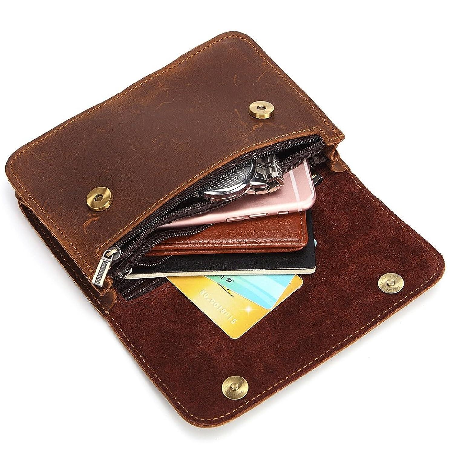 どちらもオークション明示的にMUMUWU メンズ 財布 多機能 レザー おしゃれ 使いやすい ウエストバッグ