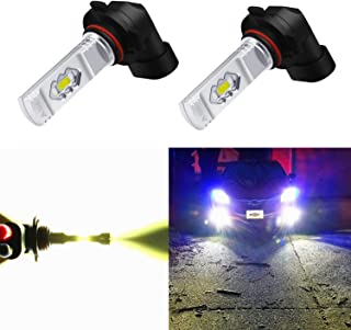 Alla Lighting H10 LED Fog Light Bulb, 9145 9140 9040 9045 ETI 56-SMD 3800 Lumens Extremely Super Bright Cars Trucks 9145 CANBUS LED Lights, 6000K Xenon White