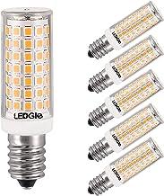 LEDGLE 8W LED gloeilampen E14 LED-lamp 88 LEDs 700lm, warm wit, 3000K, groothoek, 80W traditioneel lampequivalent, 6 stuks