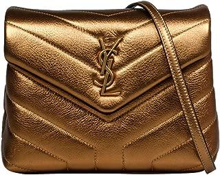 Luxury Fashion | Saint Laurent Womens 46707209E278275 Gold Shoulder Bag | Fall Winter 19