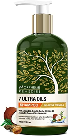 Morpheme Remedies 7 Ultra Oils Shampoo, Provides Complete Nourishment and Hair Strengthening for Thicker, Healthier Hair (300 ml)