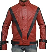 MJ Thriller Leather Jacket Michael Jack, RED, Faux Leather, XS-5XL