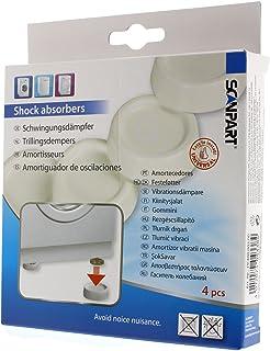 Scanpart Schwingungsdämpfer / Vibrationsdämpfer für Waschmaschine und Trockner, 4 Stück, weiß